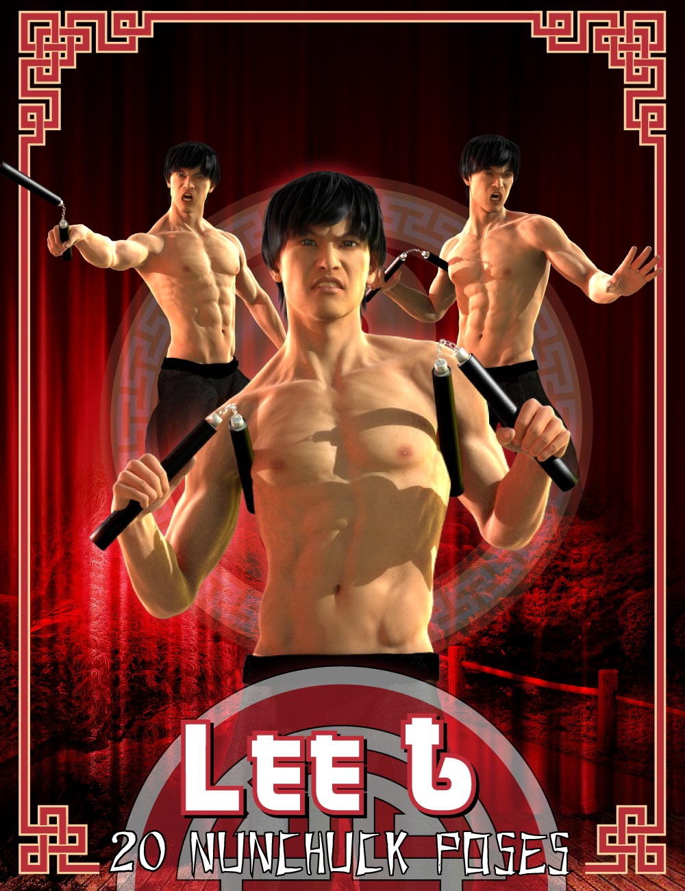 DA Nunchuck Pose Set for Lee 6 by: Design Anvil, 3D Models by Daz 3D