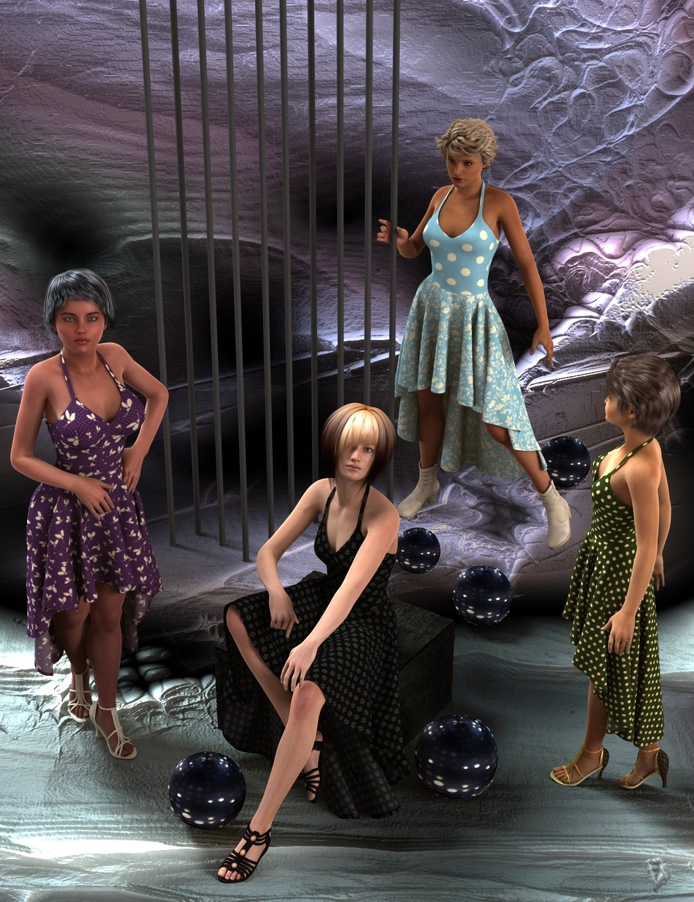Party Girl by: Aave Nainen, 3D Models by Daz 3D