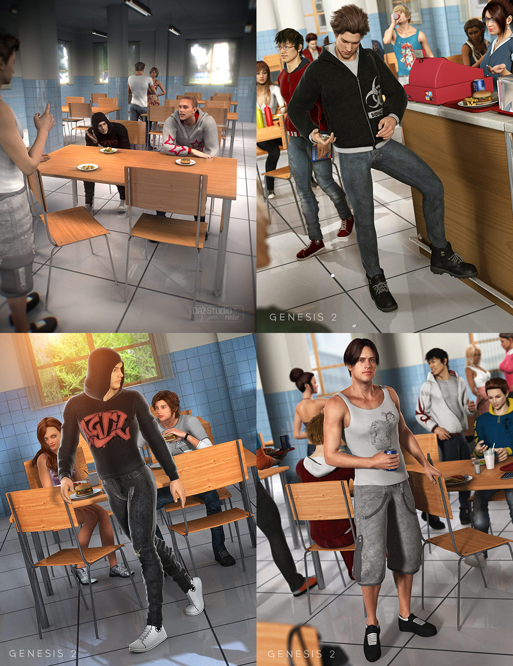 Truancy Bundle by: , 3D Models by Daz 3D