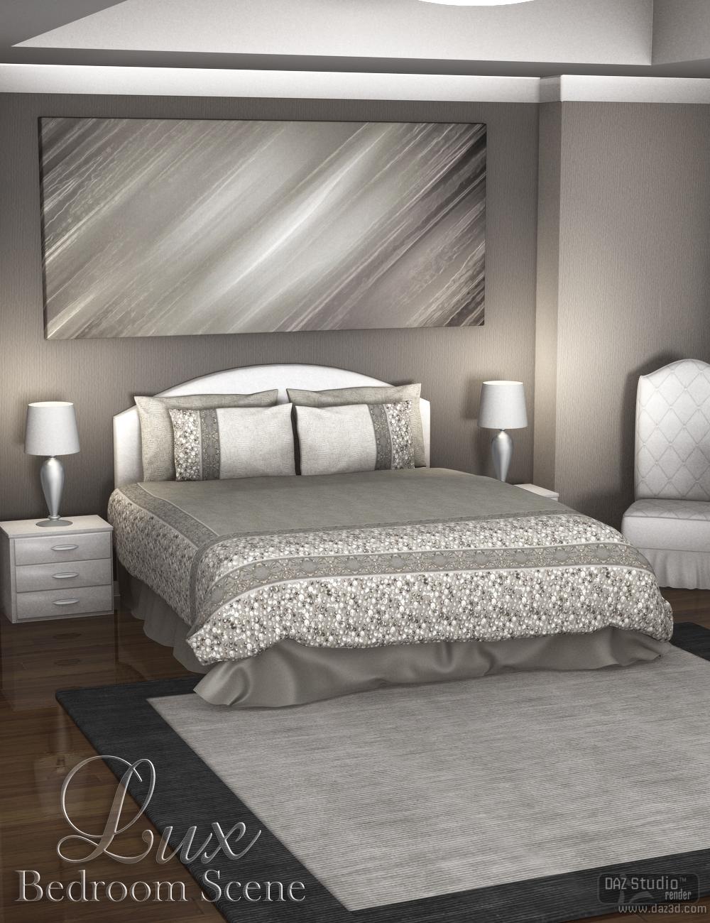 Luxury Bedroom Scene by: Nikisatez, 3D Models by Daz 3D