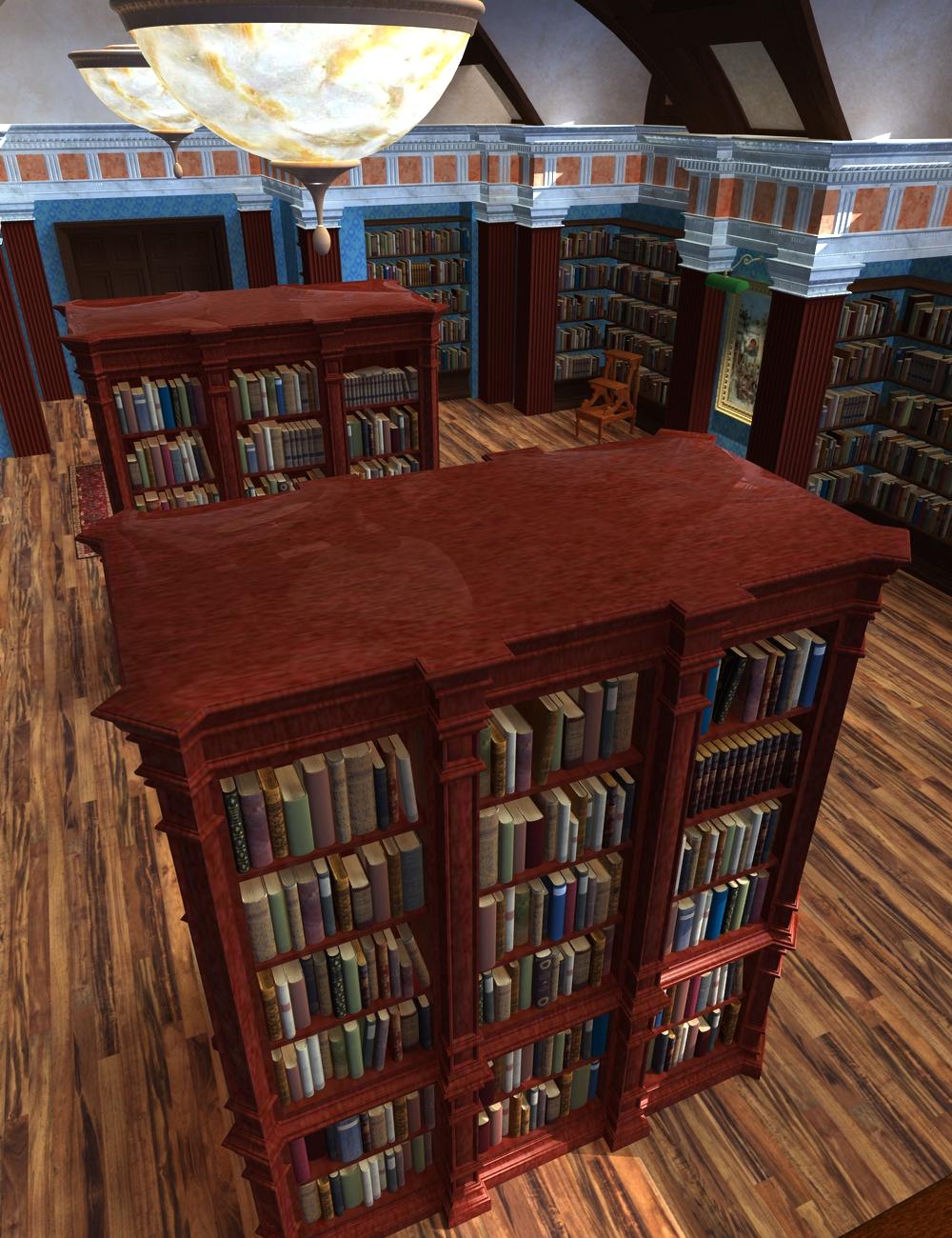 Treasury of Books by: KRAIG, 3D Models by Daz 3D