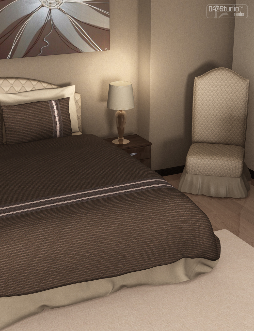 Designer for Luxury Bedroom by: OziChick, 3D Models by Daz 3D