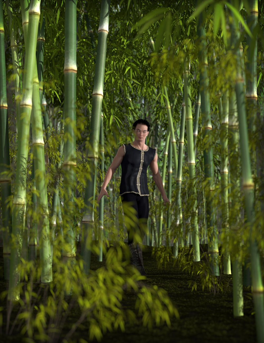 Bamboo Megapack by: esha, 3D Models by Daz 3D