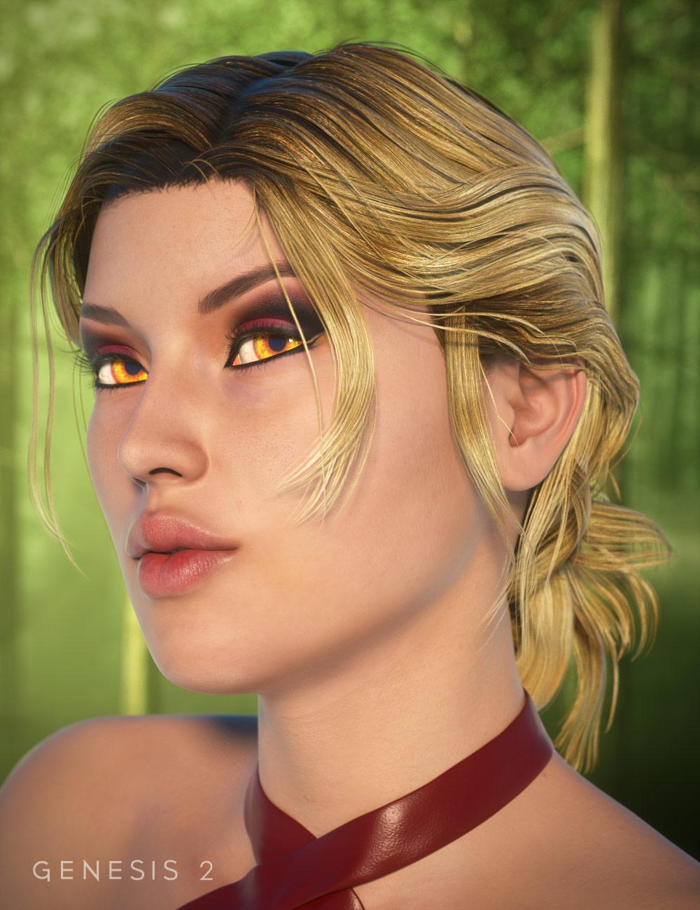 Char Hair for Genesis 2 Female(s) by: goldtassel, 3D Models by Daz 3D