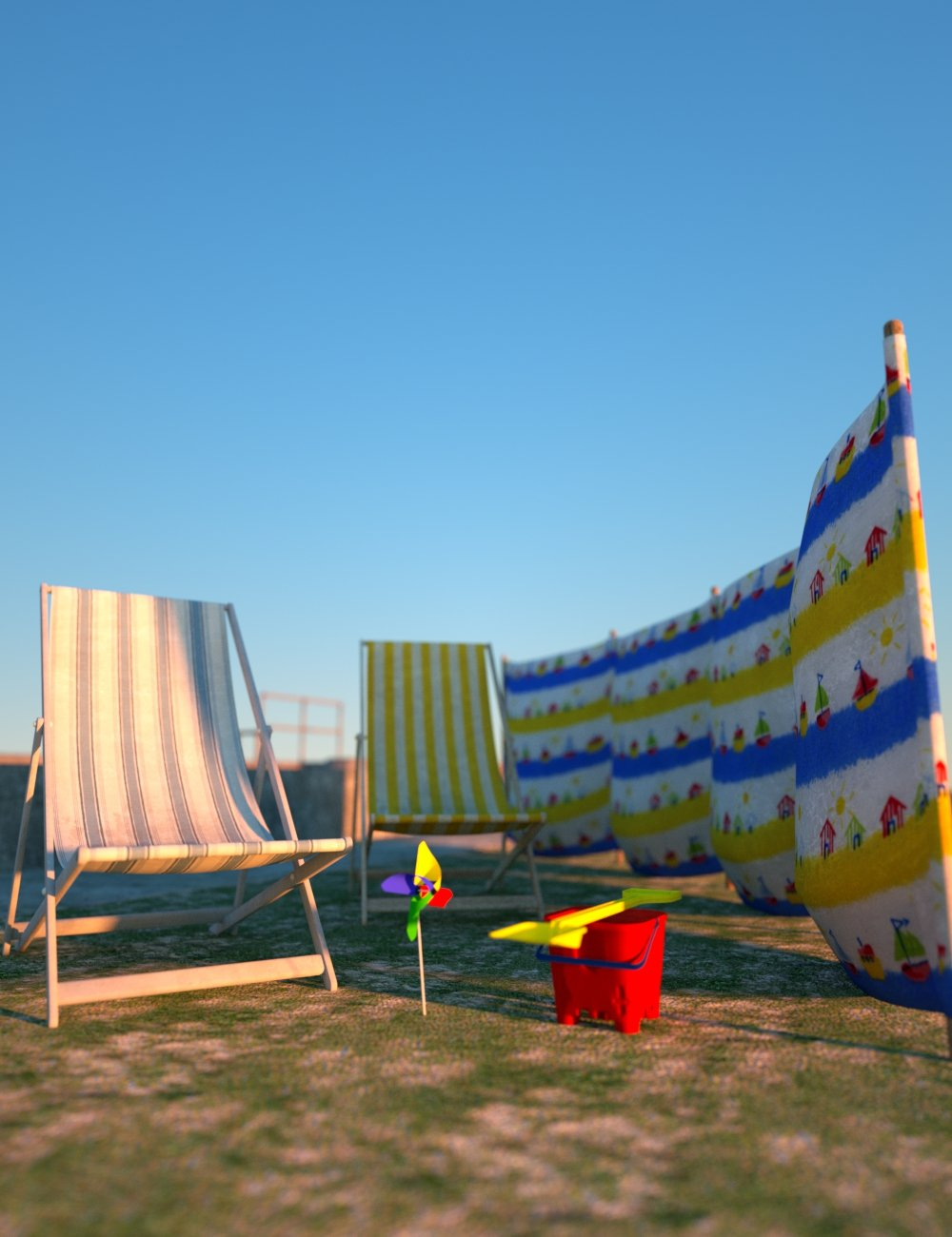 By the Seaside Promenade and Props by: David BrinnenForbiddenWhispers, 3D Models by Daz 3D