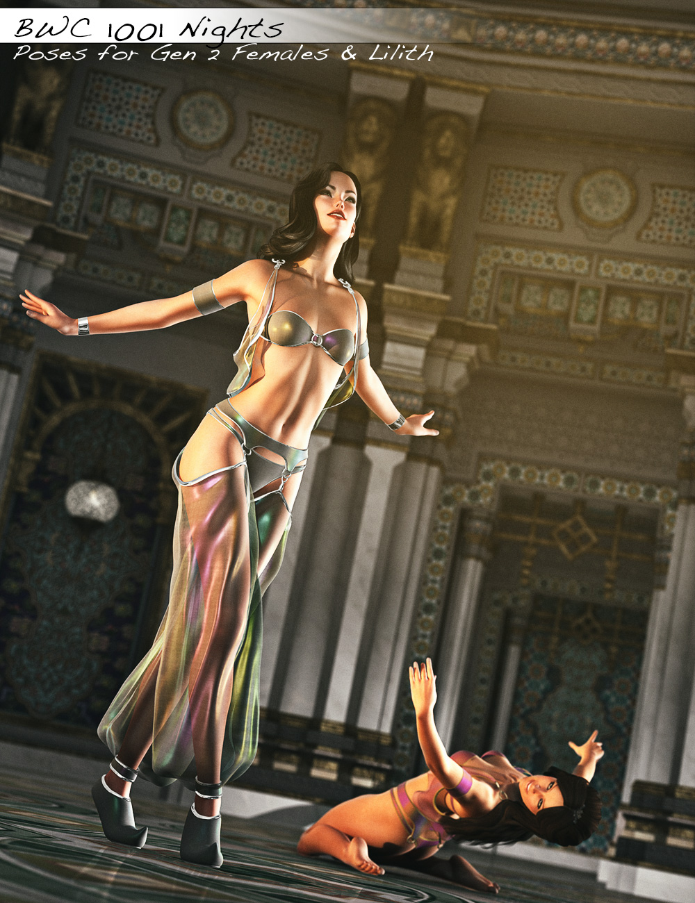 BWC 1001 Nights - Poses for Genesis 2 Female(s) and Lilith 6 by: Sedor, 3D Models by Daz 3D
