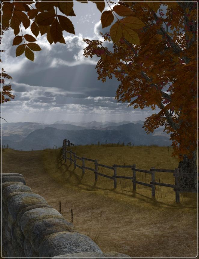Easy Environments: Autumn by: Flipmode, 3D Models by Daz 3D