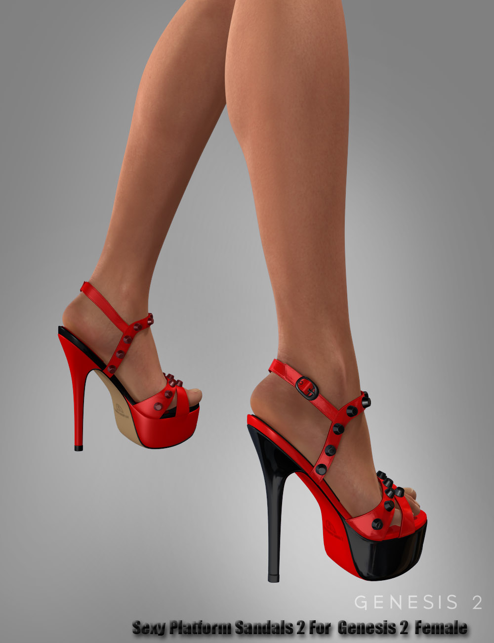 Sexy Platform Sandals 2 For Genesis 2 Female(s) by: dx30, 3D Models by Daz 3D