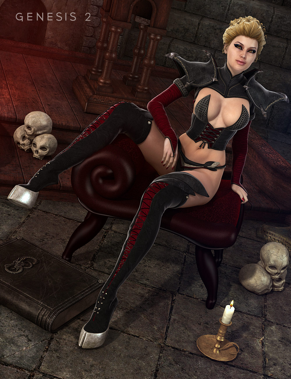 Lilim Outfit for Genesis 2 Female(s) by: SarsaMada, 3D Models by Daz 3D
