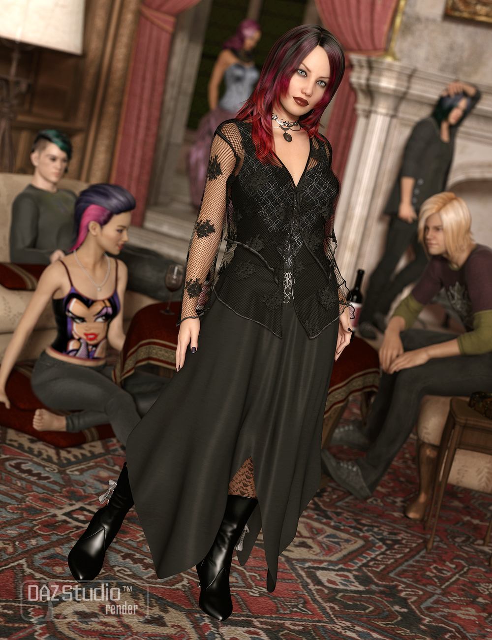Dark Passion for Genesis 2 Female(s) by: Ravenhair, 3D Models by Daz 3D