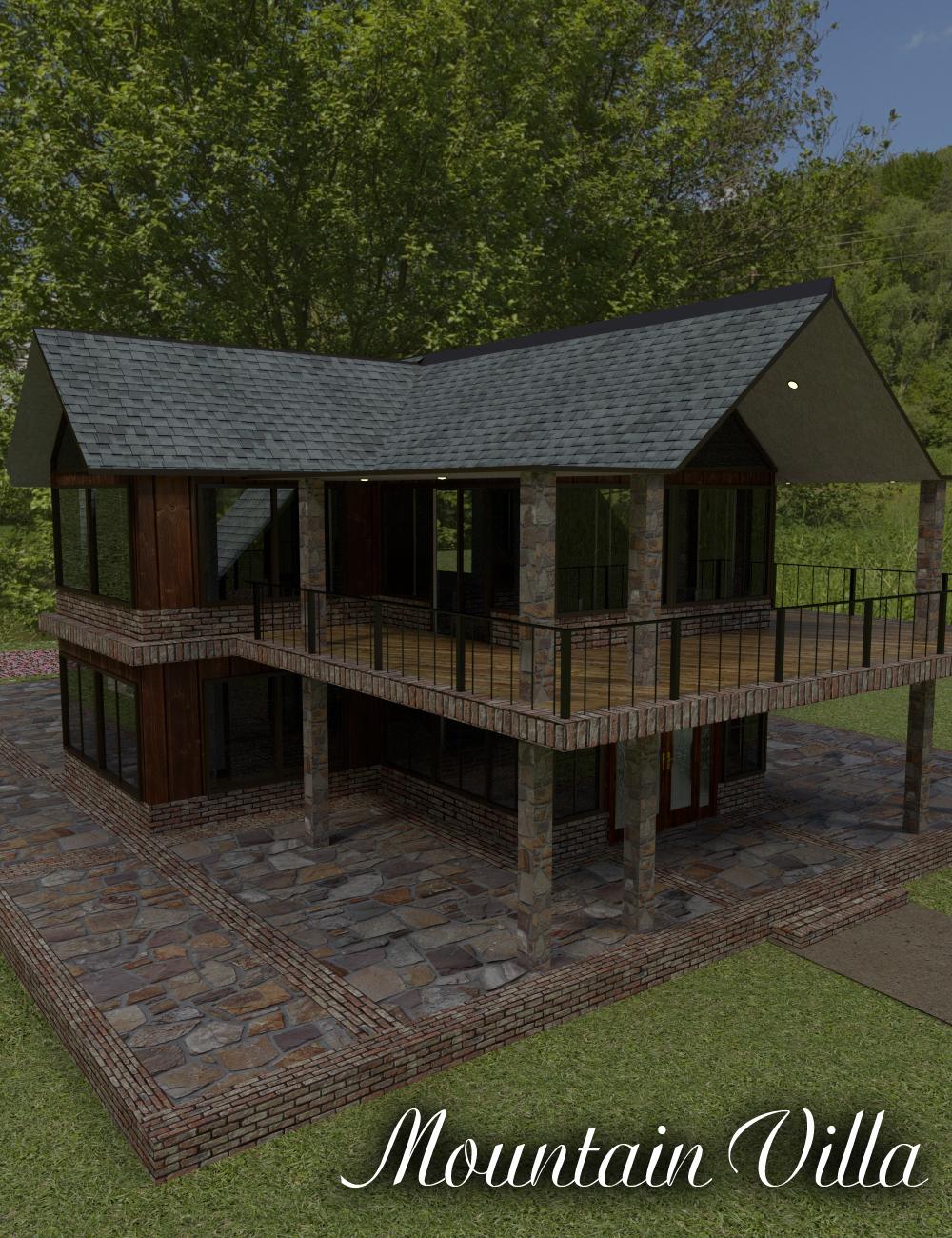 Mountain Villa by: ImagineX, 3D Models by Daz 3D