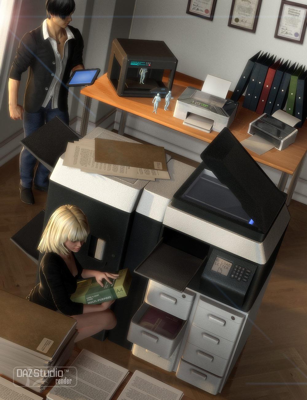Printers by: Valandar, 3D Models by Daz 3D