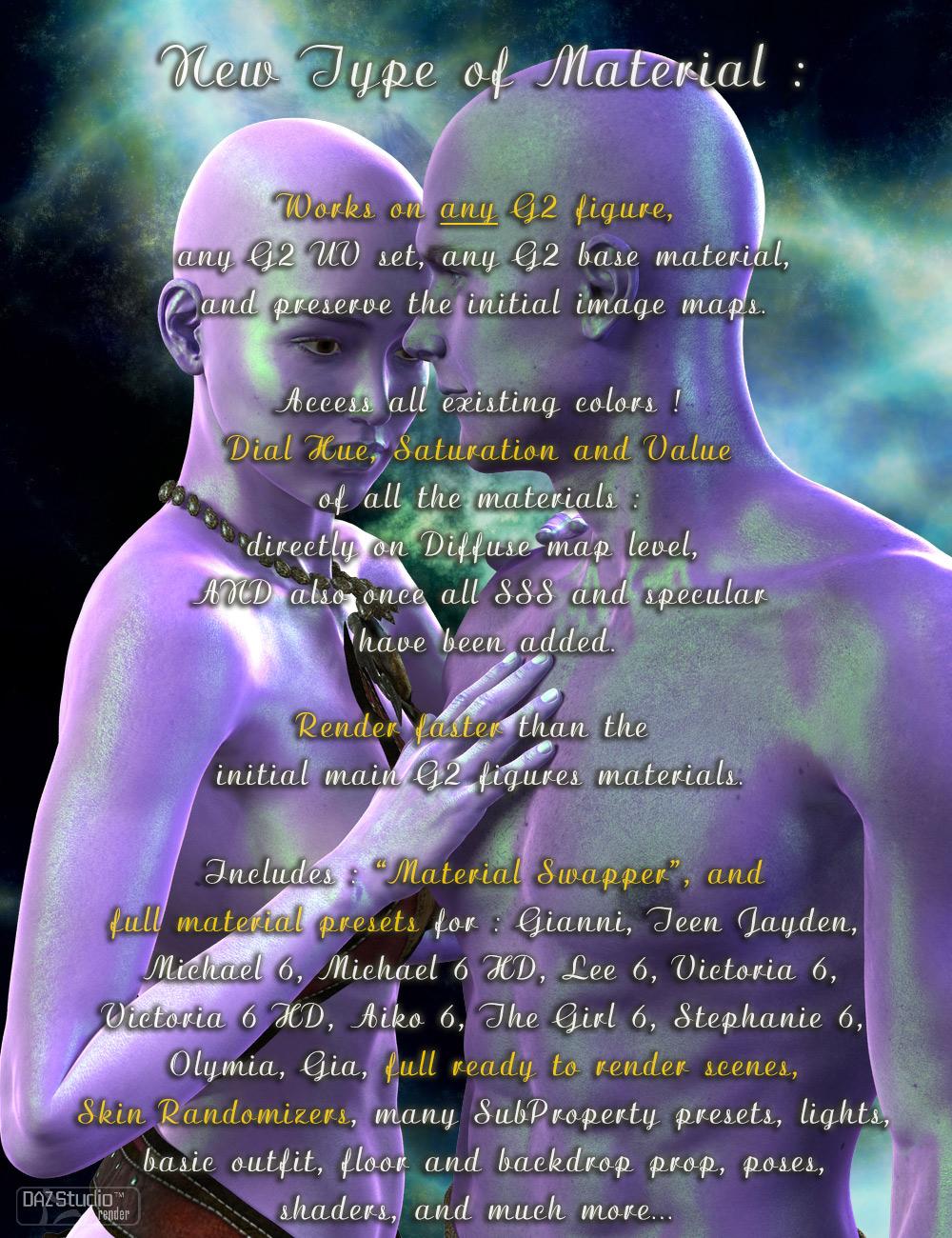Amazing Skins For Genesis 2 Bundle by: V3Digitimes, 3D Models by Daz 3D