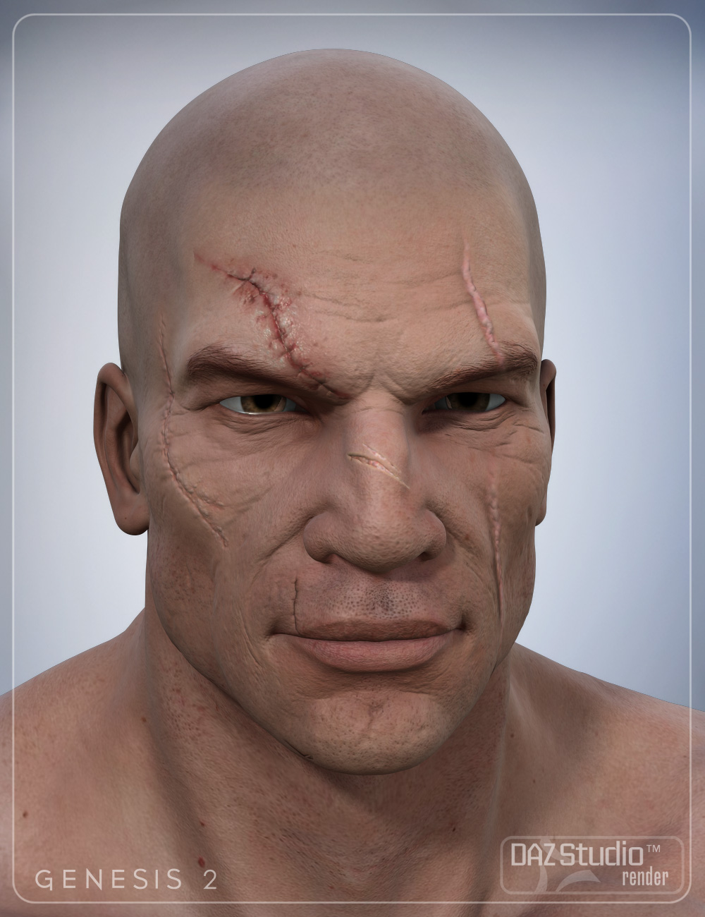 Face Scars Decals for Genesis 2 by: smay, 3D Models by Daz 3D