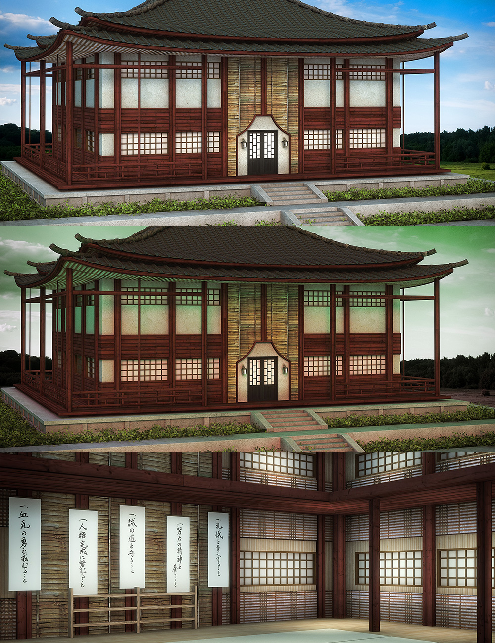 Martial Arts Dojo Lights by: , 3D Models by Daz 3D
