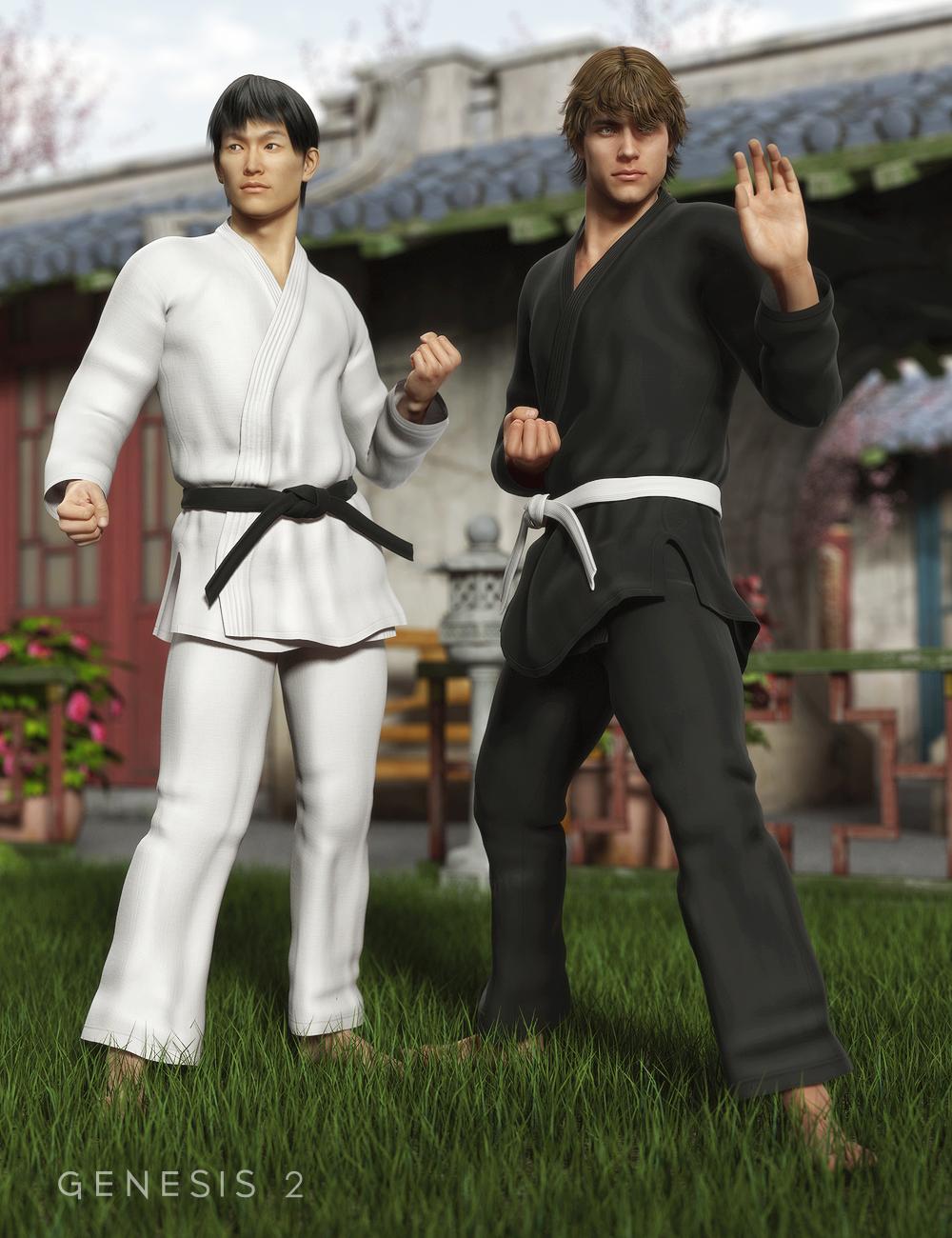 Karate Gi for Genesis 2 Male(s) by: DemonicaEvilius, 3D Models by Daz 3D
