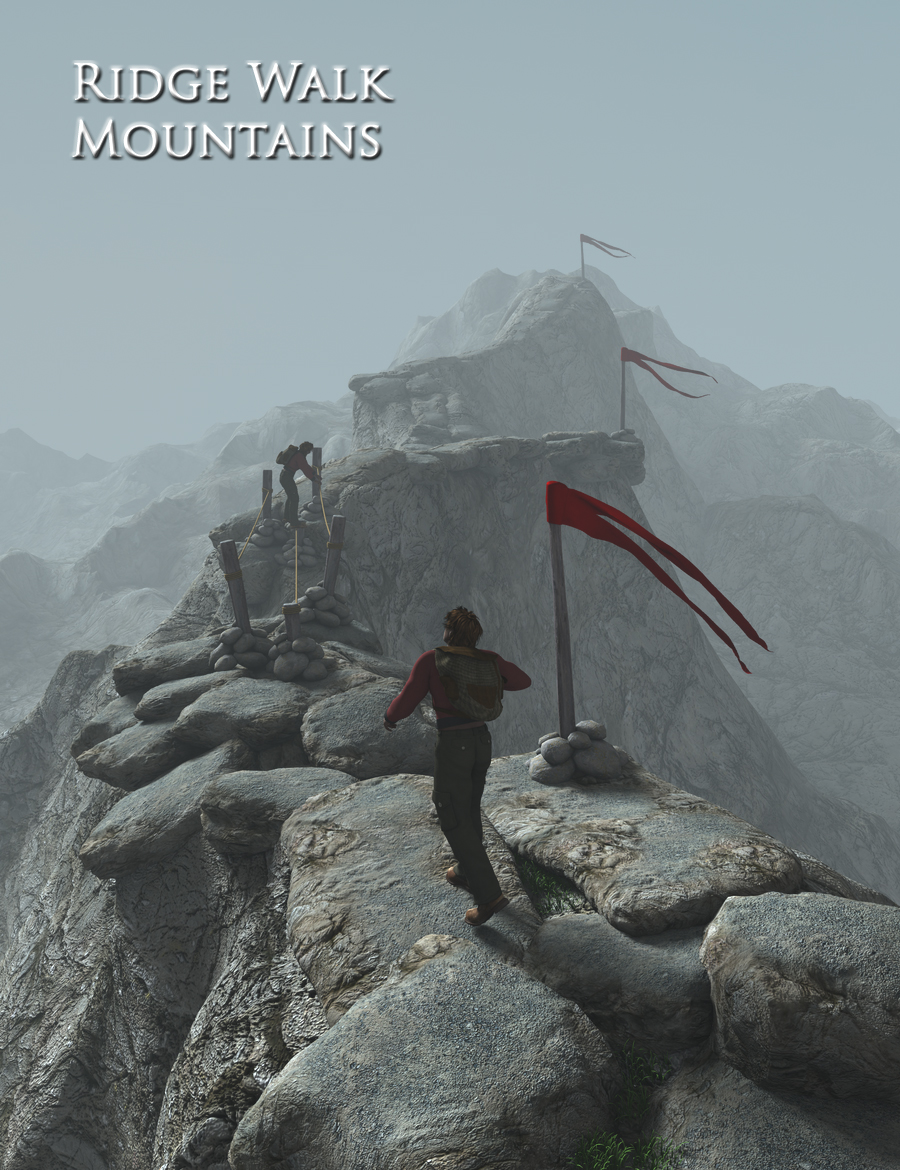 Ridge Walk Mountains by: FirstBastion, 3D Models by Daz 3D