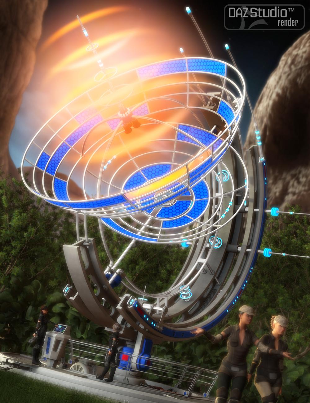 Sci-fi Antenna by: petipet, 3D Models by Daz 3D
