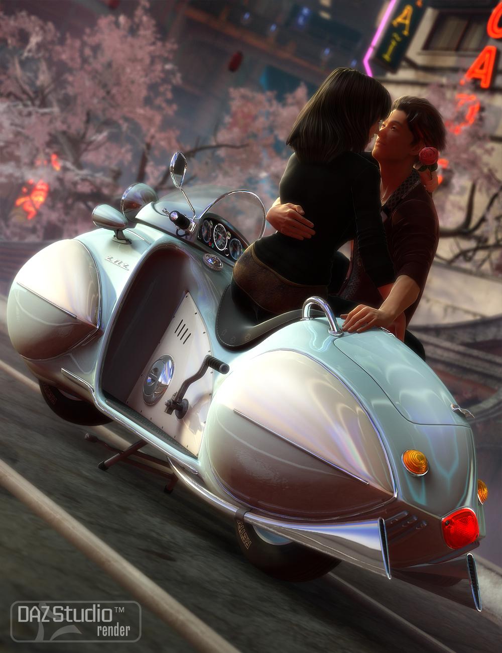 Motorbike ZAZ by: petipet, 3D Models by Daz 3D
