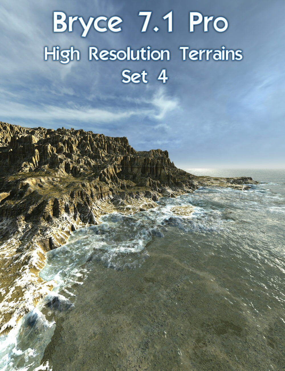 Bryce 7.1 Pro - High Resolution Terrains - Set 4 by: David BrinnenHoro, 3D Models by Daz 3D