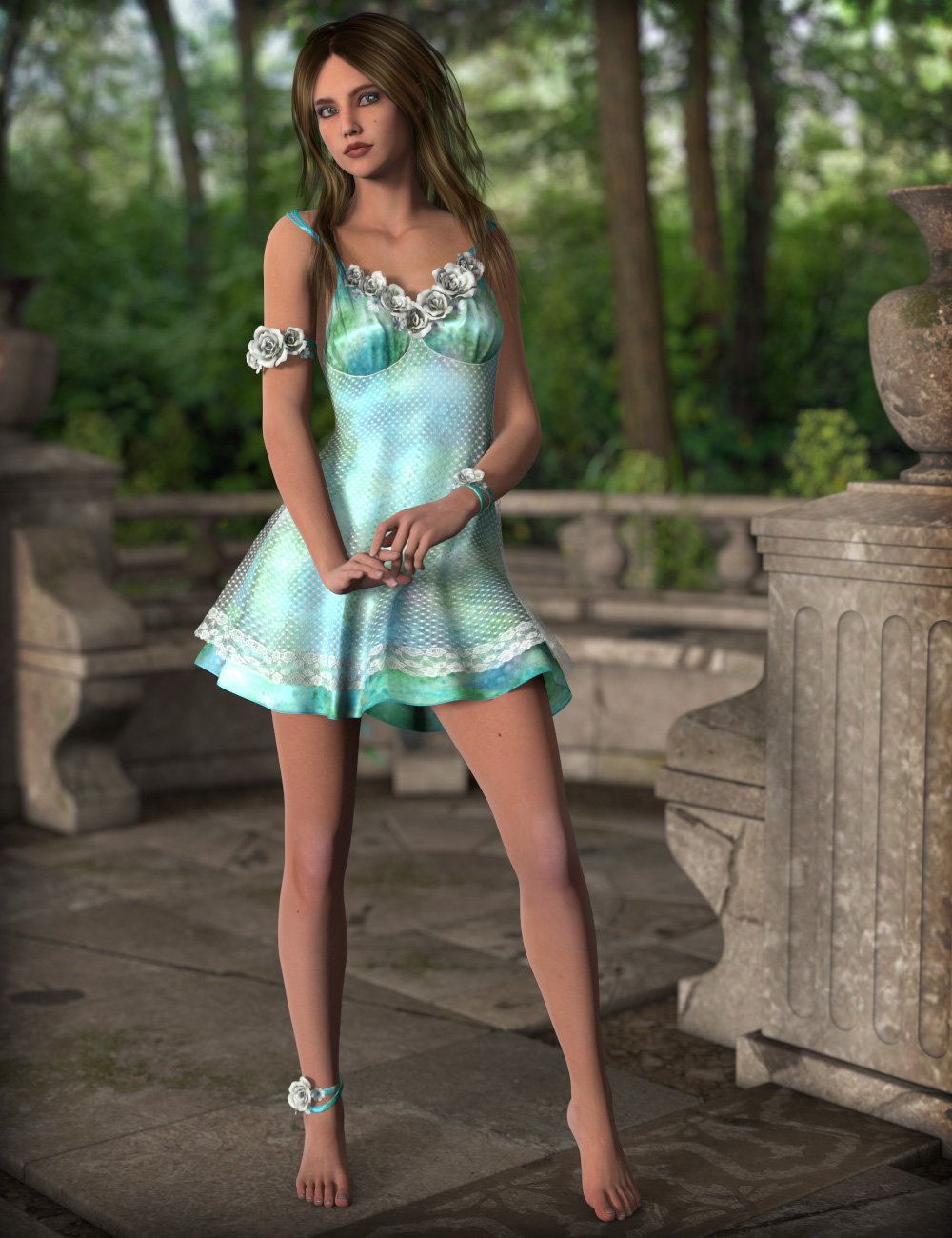 Summer Melody for Song of Summer Outfit by: esha, 3D Models by Daz 3D