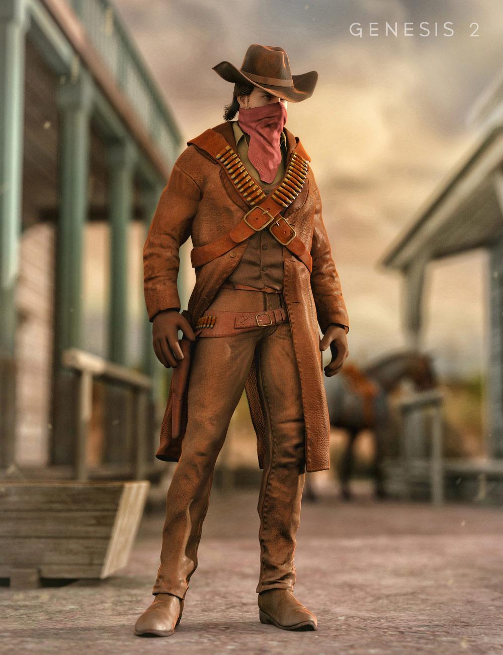 Western Outlaw for Genesis 2 Male(s) by: Yura, 3D Models by Daz 3D