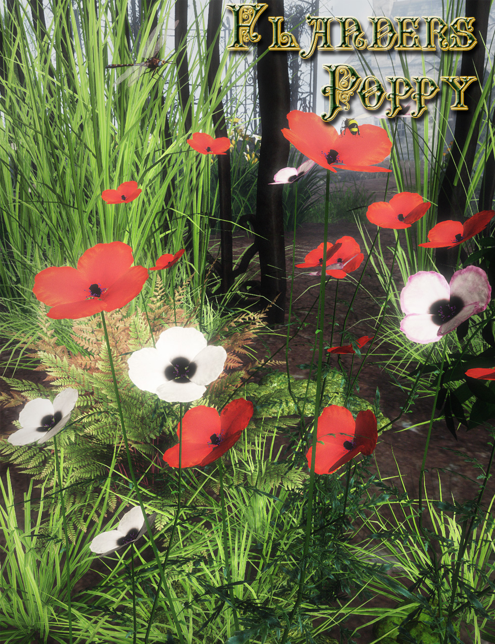 Flanders Poppy  (Static TPF Plant for DS and Poser) by: MartinJFrost, 3D Models by Daz 3D