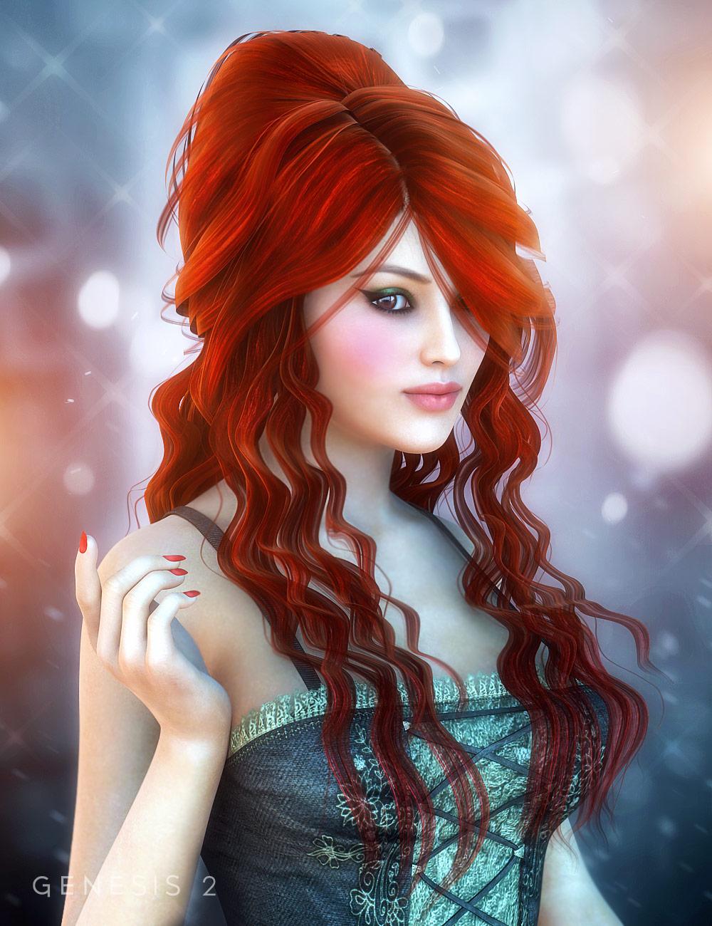 Allessa Hair by: , 3D Models by Daz 3D