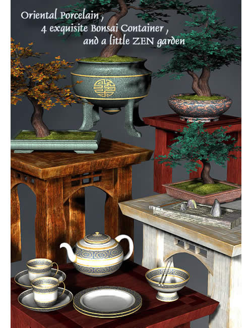 Teahouse Treasures by: , 3D Models by Daz 3D