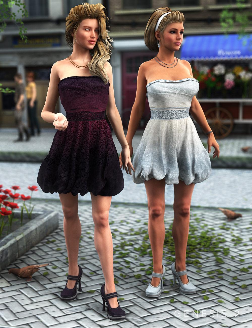Stylish Bubble Dress Textures by: Sarsa, 3D Models by Daz 3D