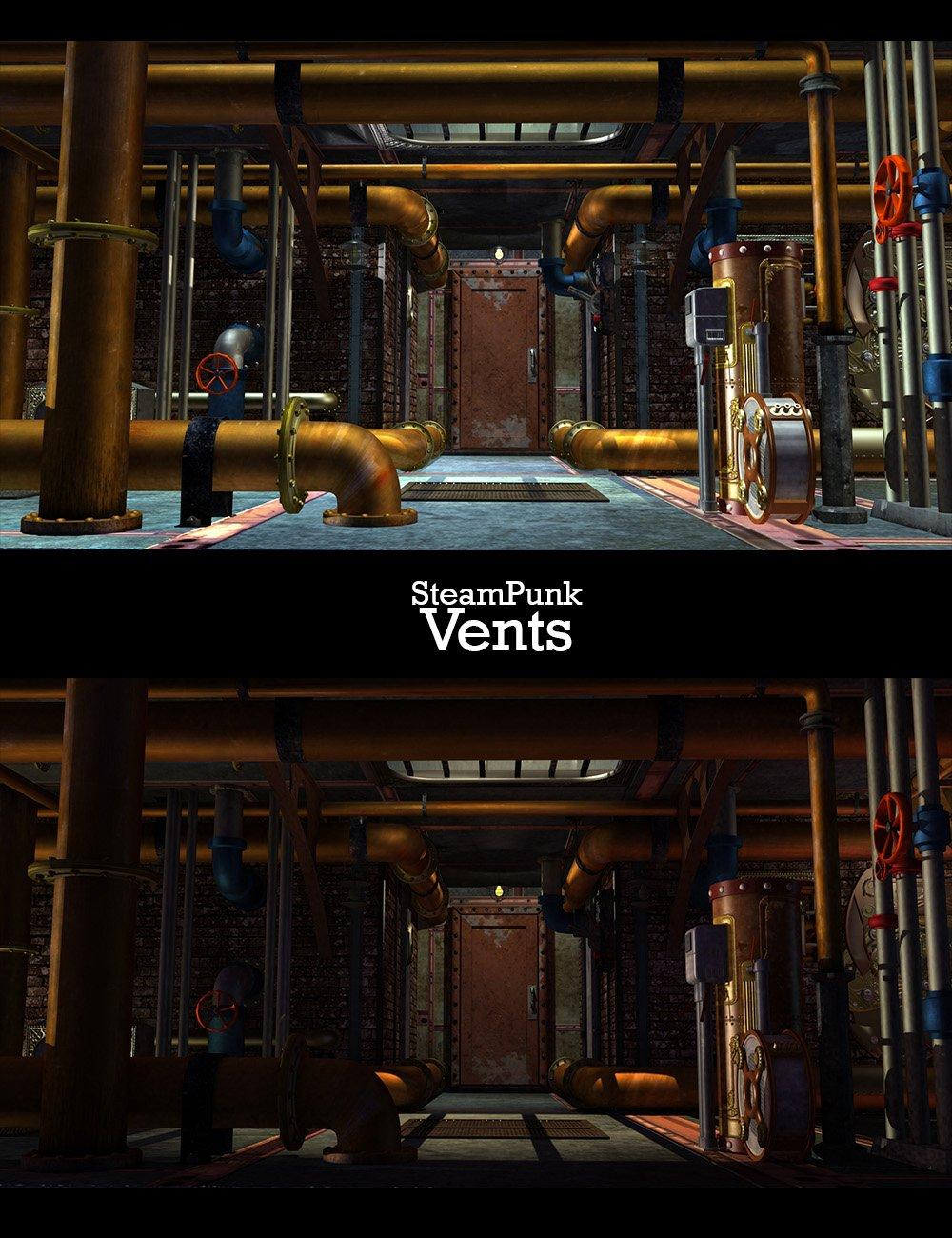 SteamPunk - Vents by: Phantasmagorical Scenes, 3D Models by Daz 3D