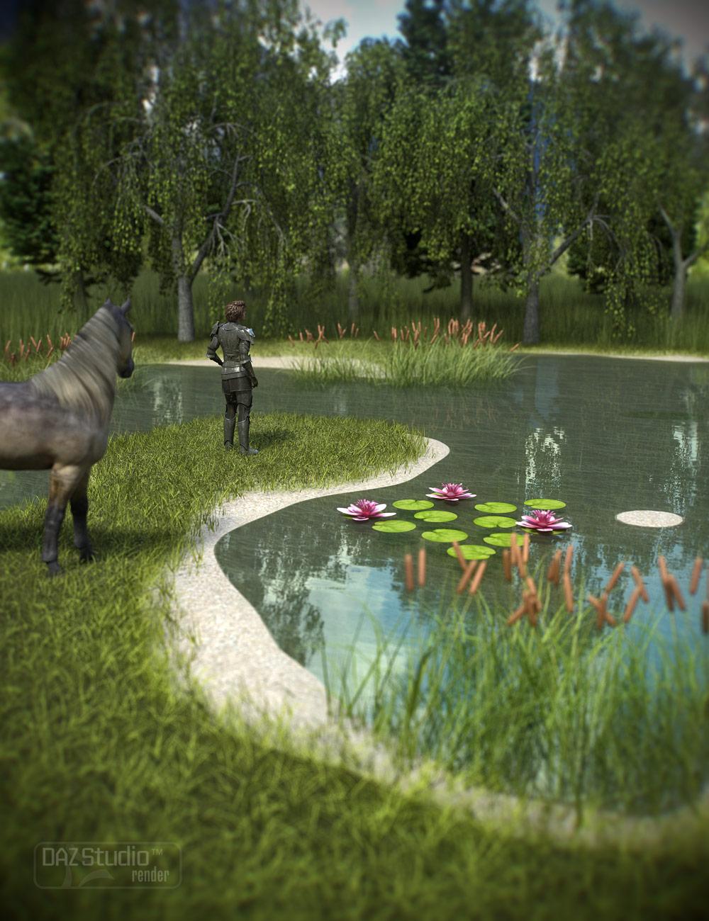 Pond Builder - Base by: ARTCollab, 3D Models by Daz 3D