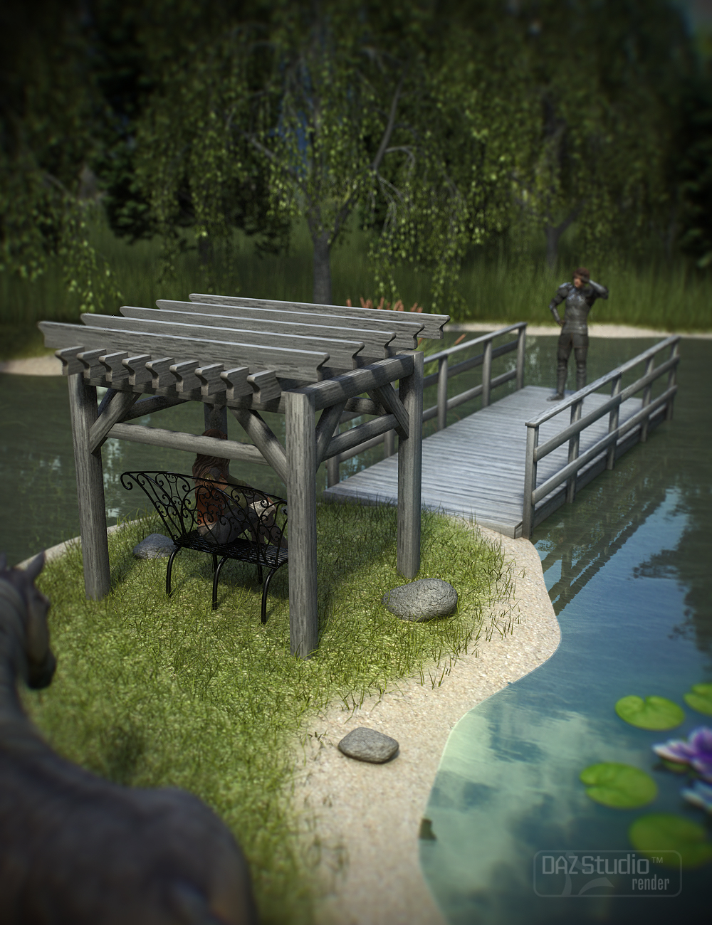 Pond Builder - Expansion 1 by: ARTCollab, 3D Models by Daz 3D