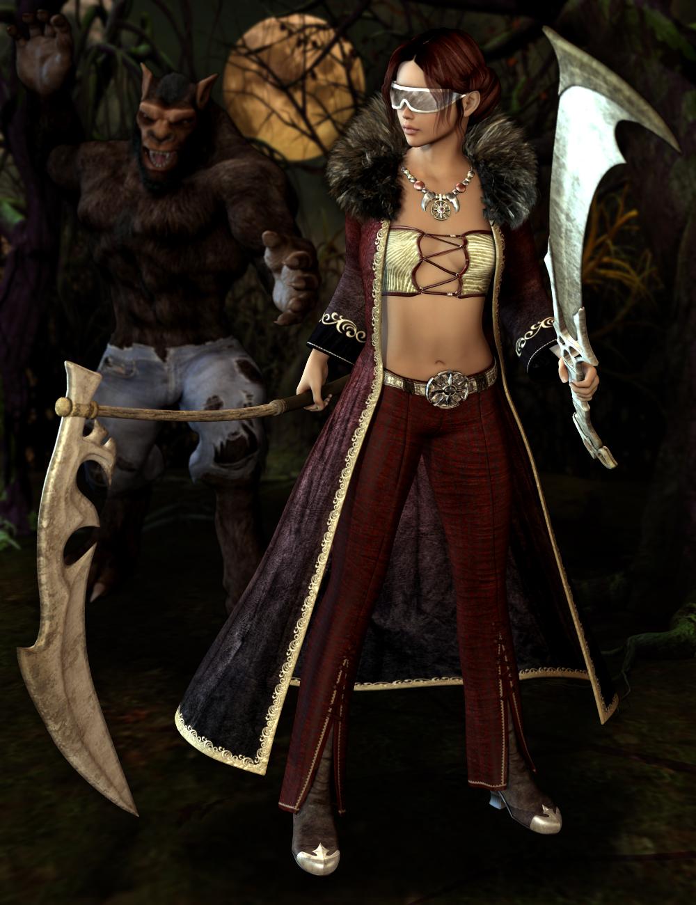Werewolf Hunter for Genesis 2 Female(s) by: Lady LittlefoxSarsa, 3D Models by Daz 3D