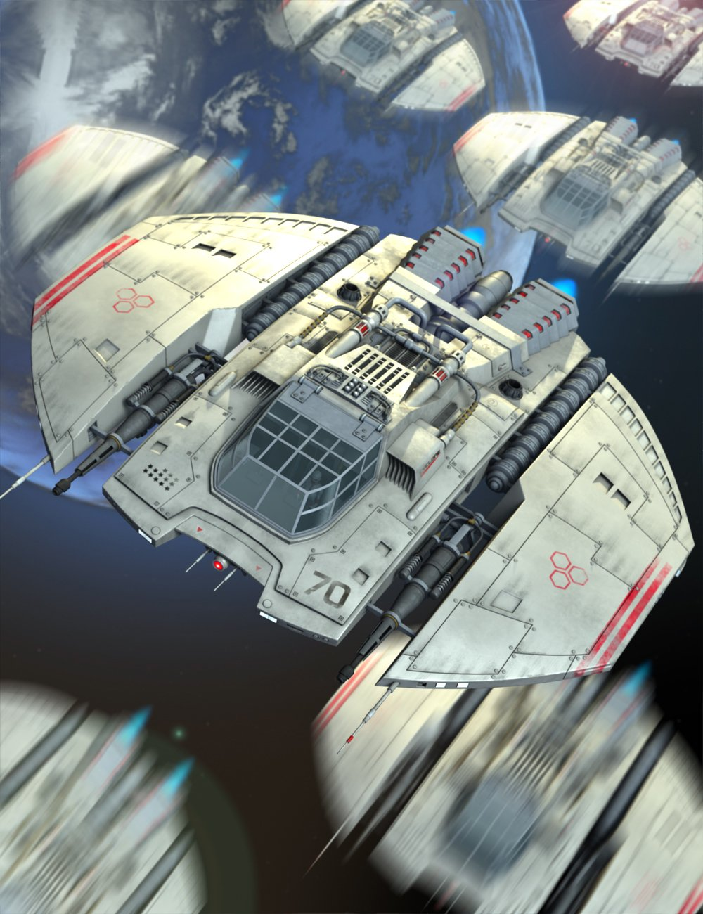 Starship Cyclone by: petipet, 3D Models by Daz 3D