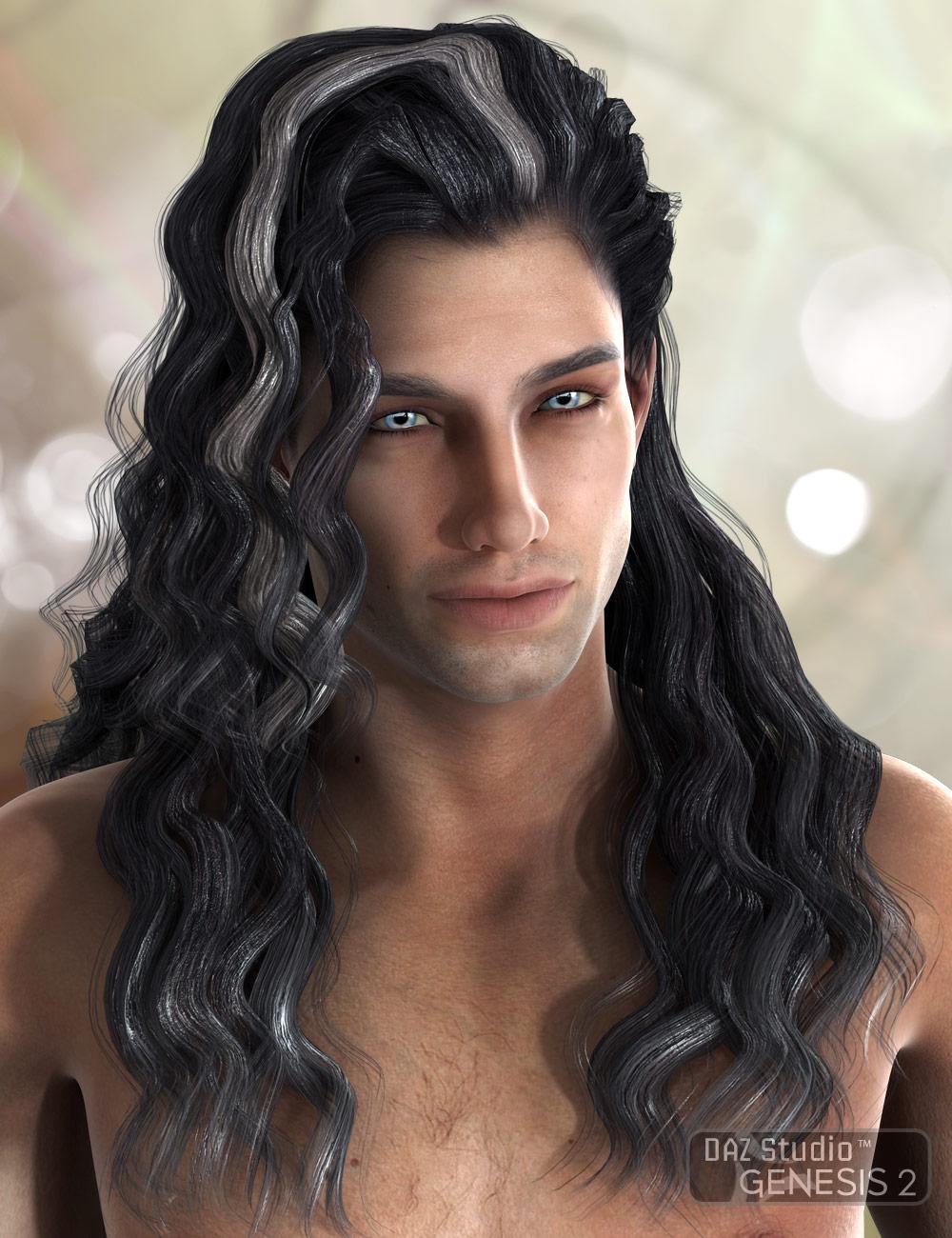 Julius Hair for Genesis 2 by: AprilYSH, 3D Models by Daz 3D