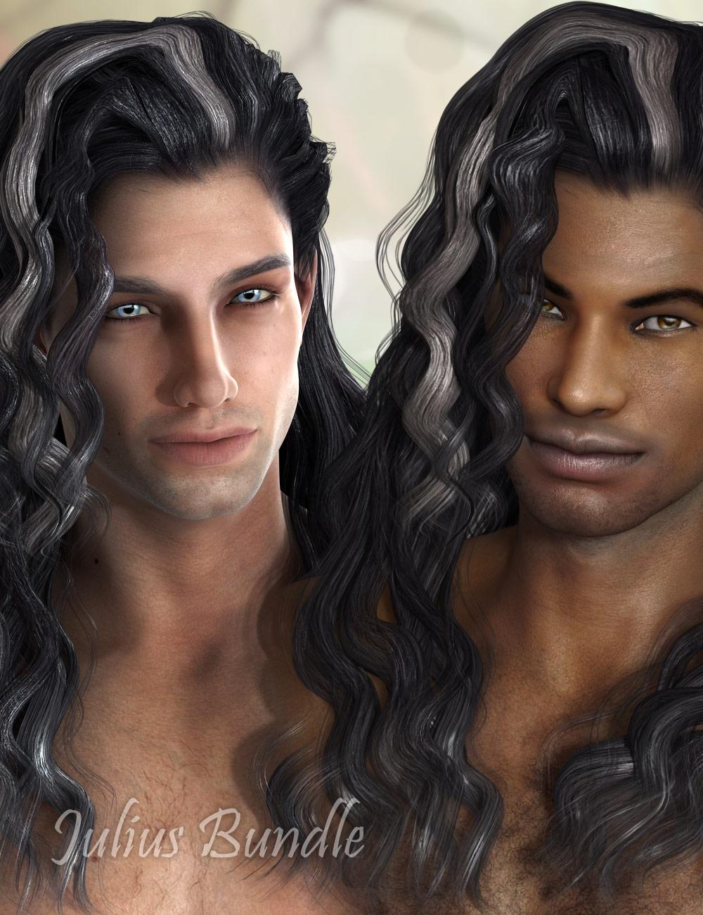 Julius Hair Bundle by: AprilYSH, 3D Models by Daz 3D
