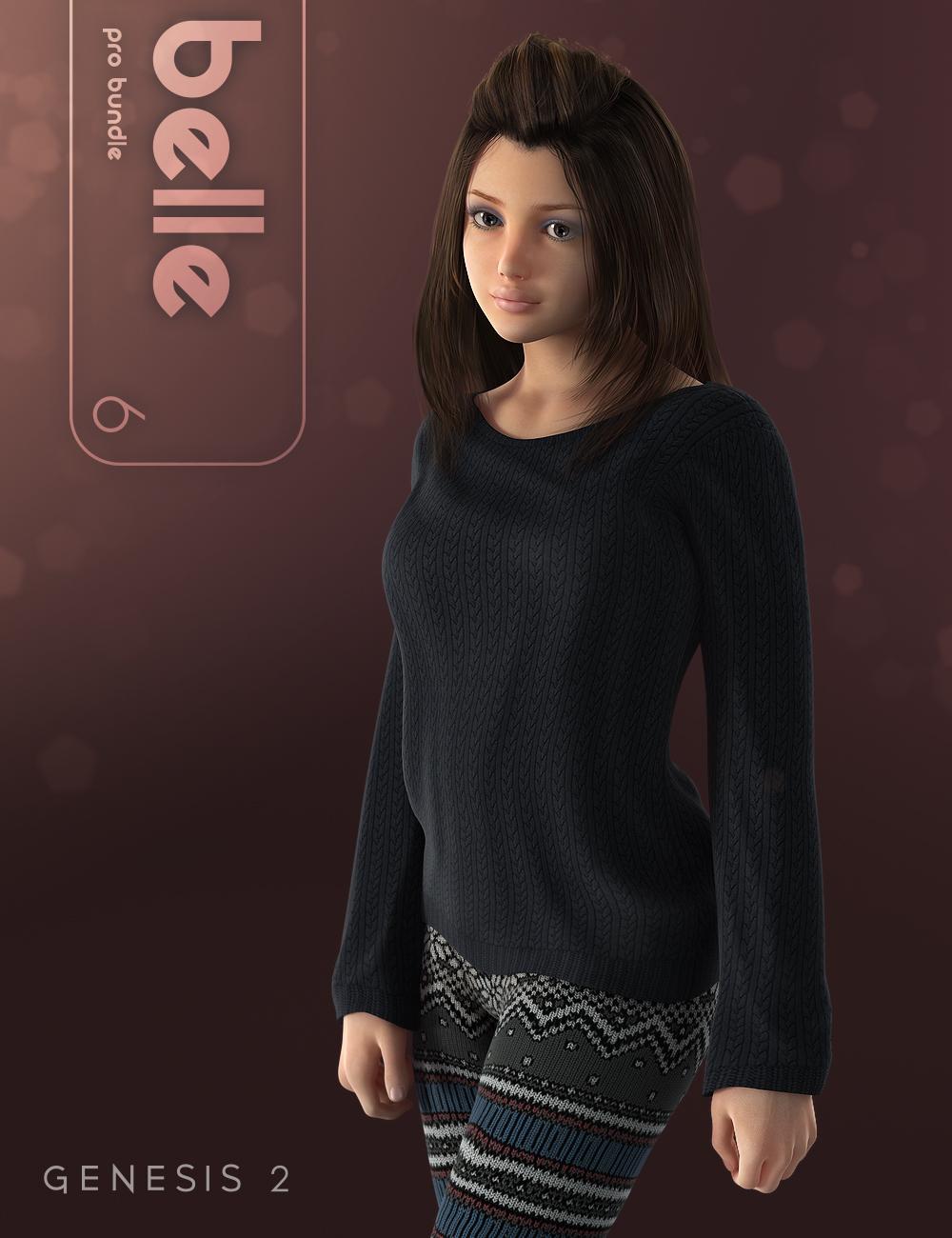 Belle 6 Pro Bundle by: , 3D Models by Daz 3D