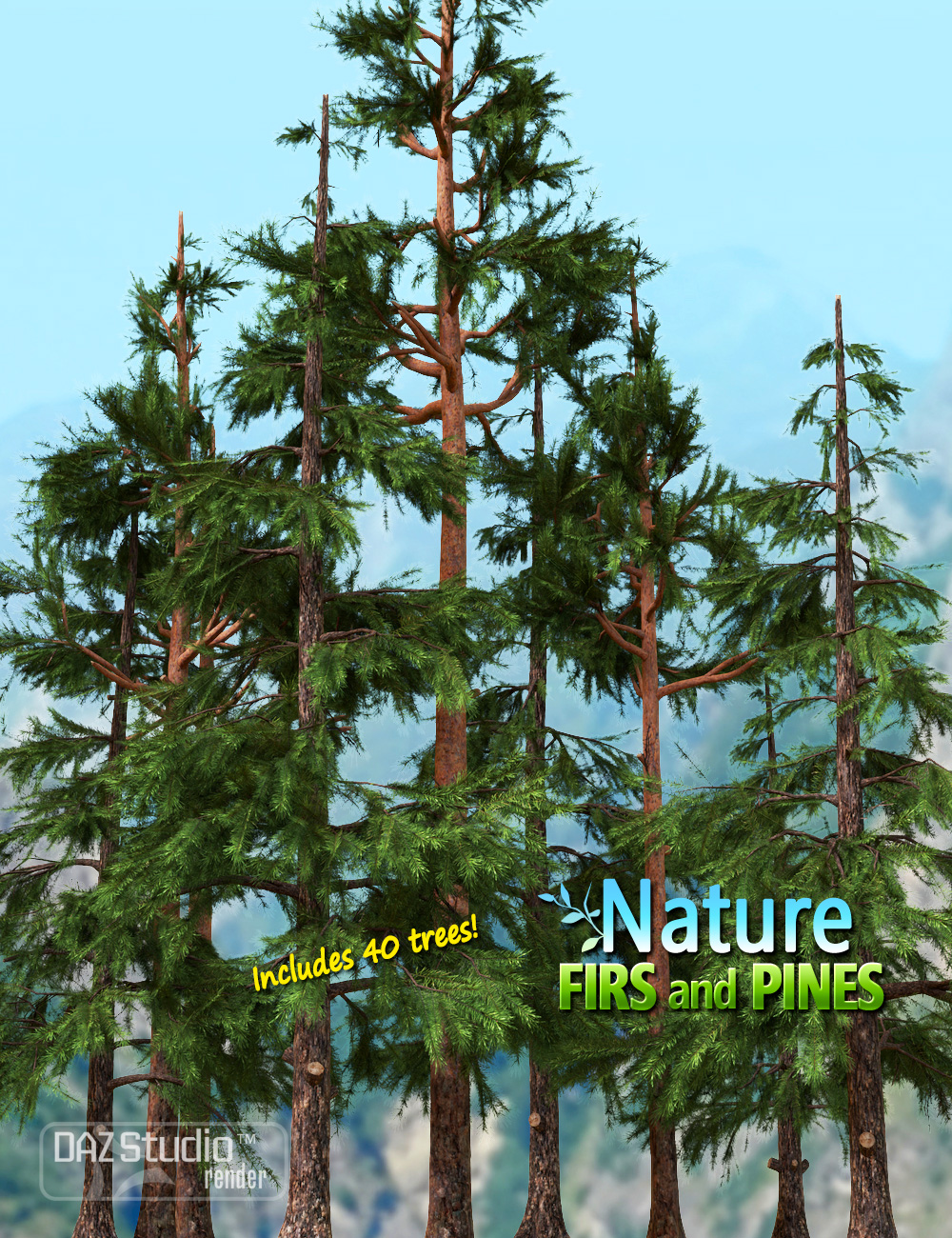 Nature - Firs and Pines by: Andrey Pestryakov, 3D Models by Daz 3D