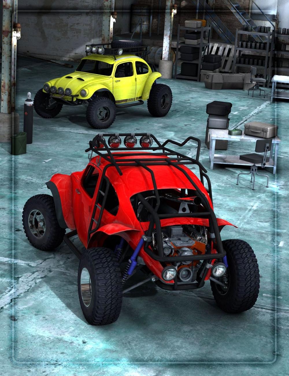 Baja Bug by: DzFire, 3D Models by Daz 3D