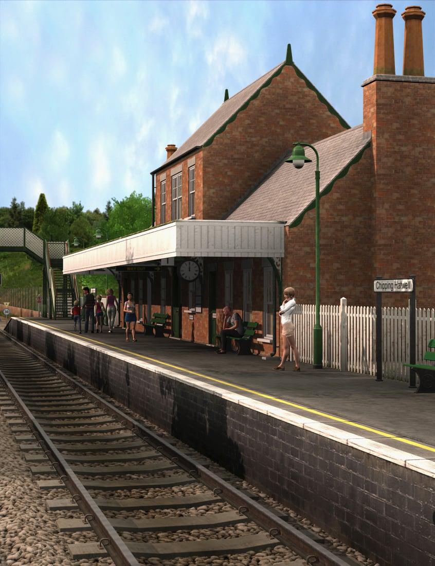 The Old Railway Station by: Dogz, 3D Models by Daz 3D