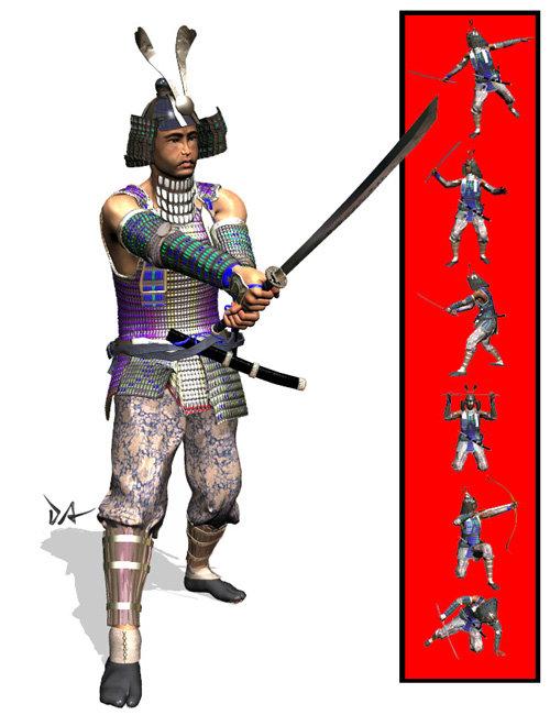 Samurai Poses by: Don Albert, 3D Models by Daz 3D