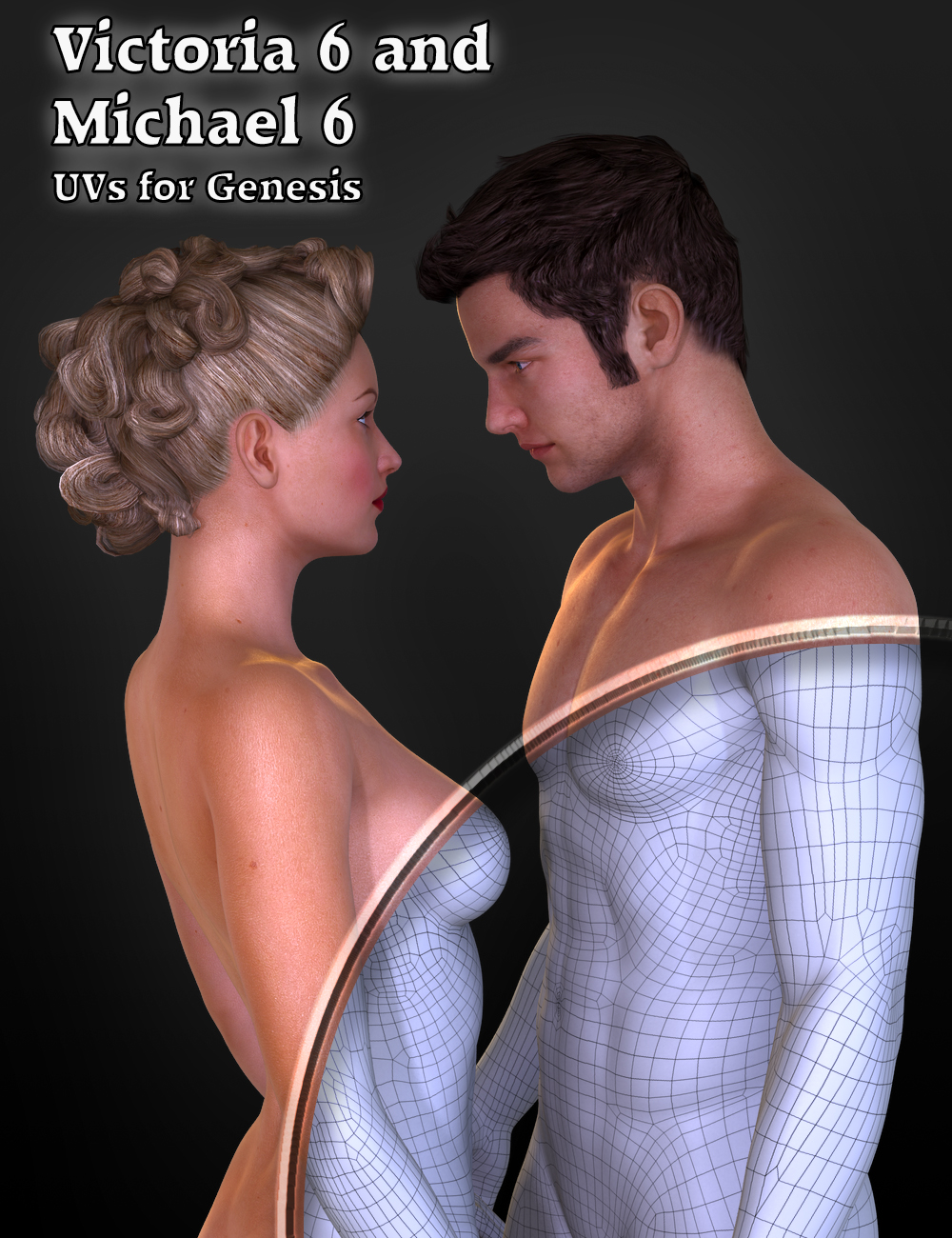 Victoria 6 and Michael 6 UVs for Genesis by: DraagonStormSloshWerks, 3D Models by Daz 3D