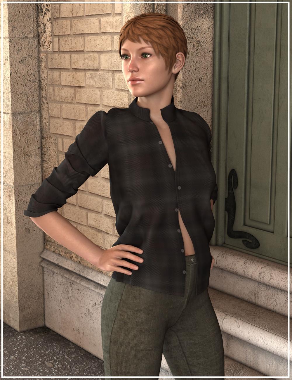 Casual Streetwear for Genesis 2 Female(s) by: Oskarsson, 3D Models by Daz 3D