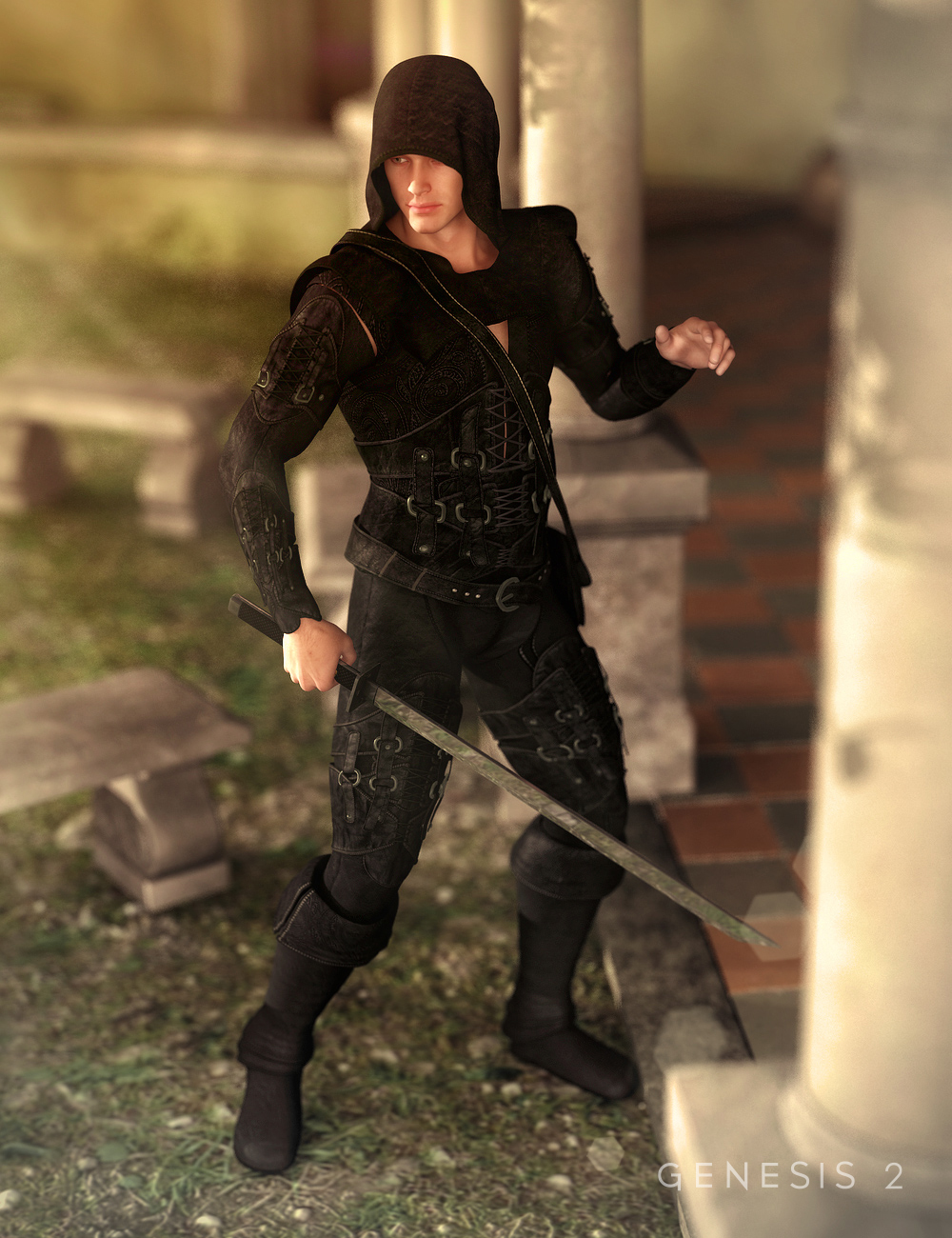 Midnight Rogue for Genesis 2 Male(s) by: Barbara BrundonSarsa, 3D Models by Daz 3D