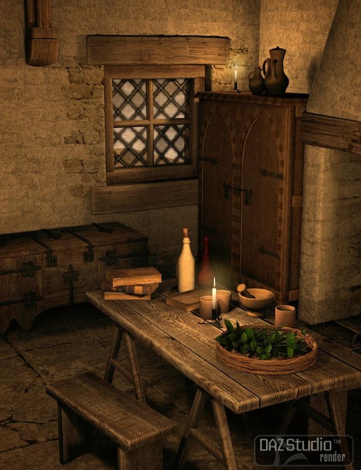 Medieval Merchants House Bundle by: Merlin Studios, 3D Models by Daz 3D