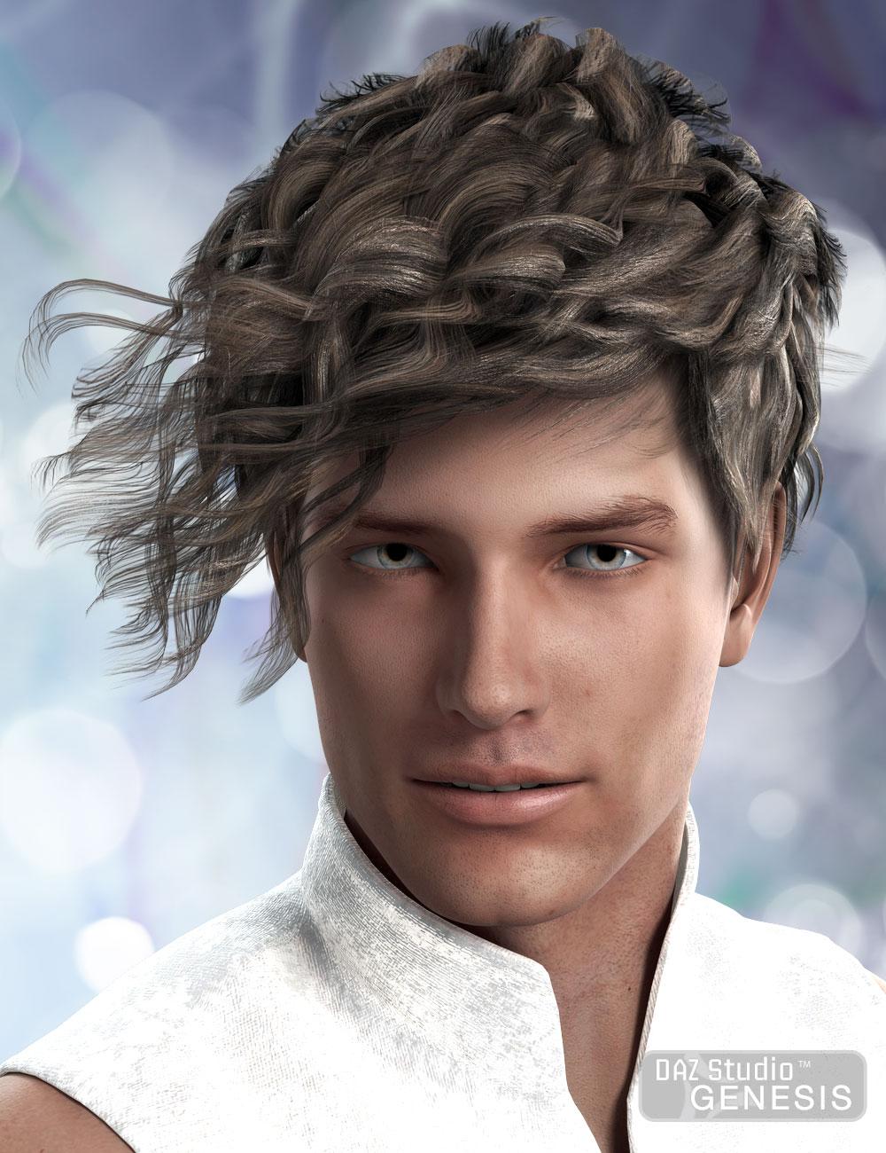Sebastian Hair for Genesis by: AprilYSH, 3D Models by Daz 3D