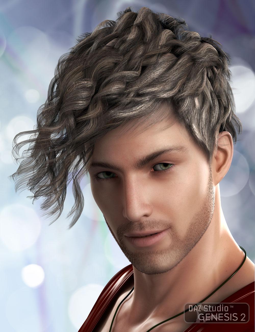 Sebastian Hair for Genesis 2 by: AprilYSH, 3D Models by Daz 3D
