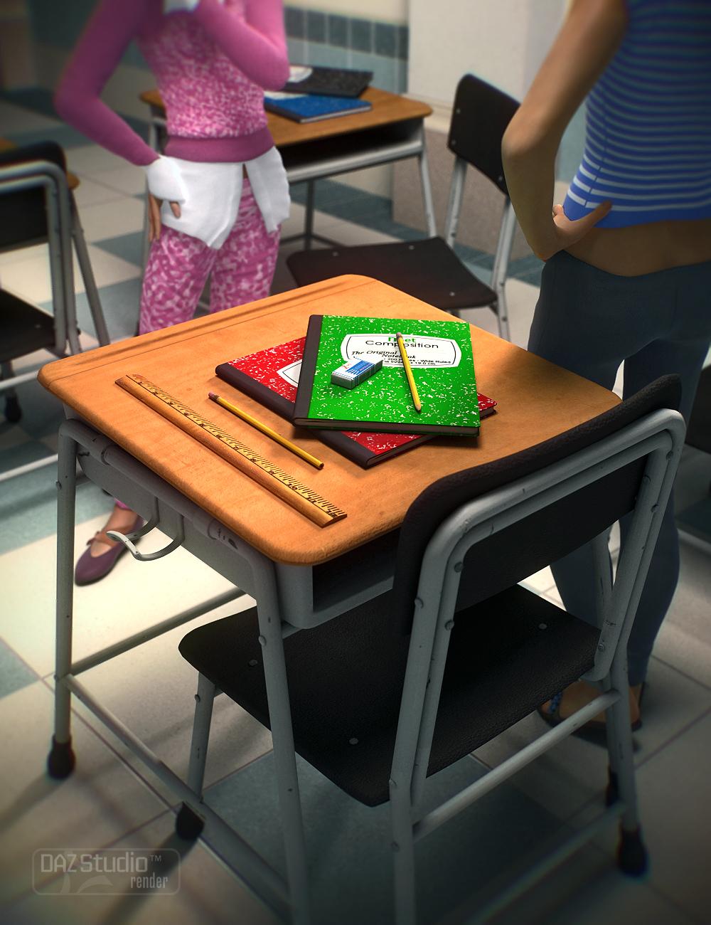 Back to Class! School Props by: Nikkelah Ghaz, 3D Models by Daz 3D