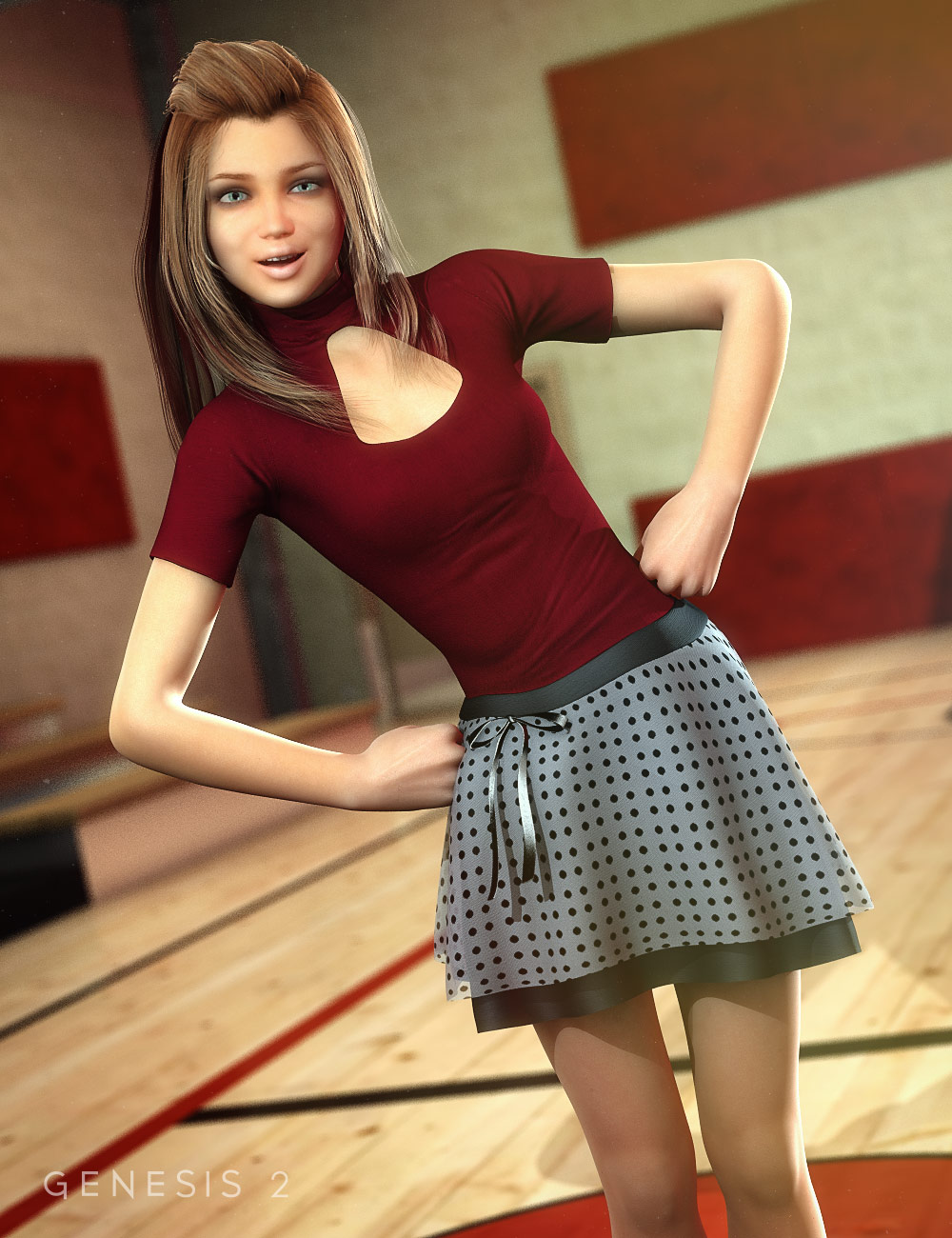 Ladybug Outfit for Genesis 2 Female(s) by: Ryverthorn, 3D Models by Daz 3D